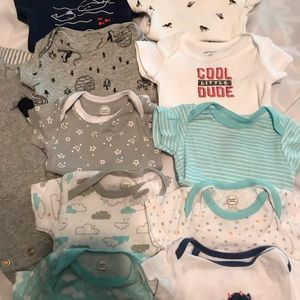 Lot of 10 NB onesies